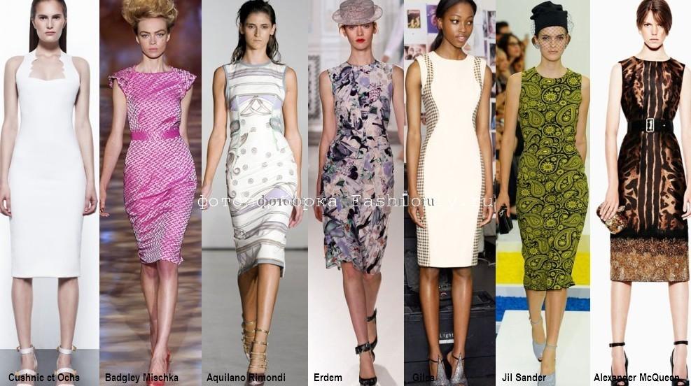 С чем носить платье-футляр летом