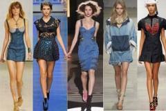 С чем носить платье из денима летом
