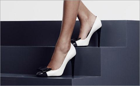 Актуально: обувь с контрастным мыском