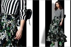 Полоска и цветочный принт: модное сочетание от DOLCE&GABBANA