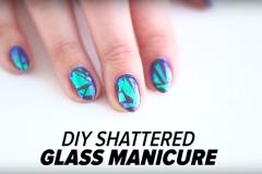 Маникюр осень 2015: как сделать «стеклянные» ногти