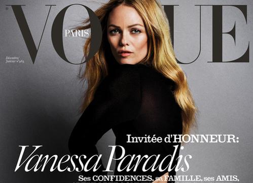 Ванесса Паради снялась сразу для трех обложек французского Vogue