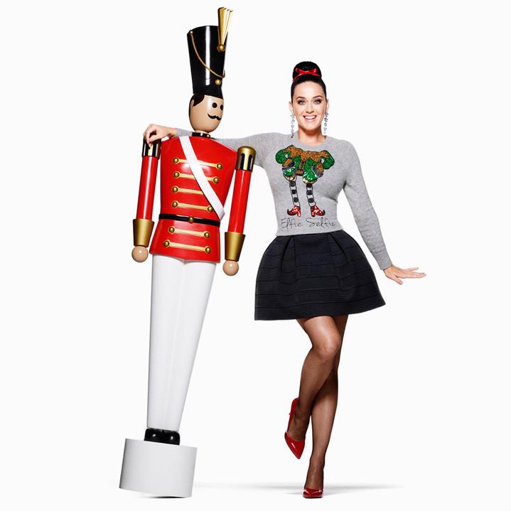 Кэти Перри в рождественской кампании H&M