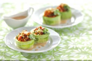 Фаршированные кабачки, запеченные в духовке: рецепт