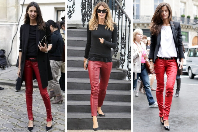 Красные брюки, с чем носить?