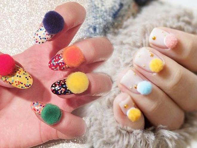 Pom-Pom Nails: еще один безумный маникюрный тренд