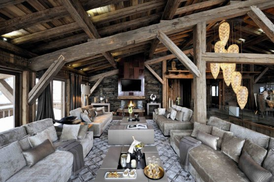 Как создать альпийское шале в интерьере дома?