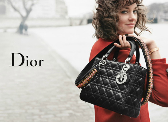 Марион Котийяр в новой рекламе сумок Dior
