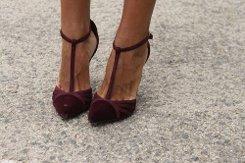 Бордовая обувь, главный тренд весны 2016