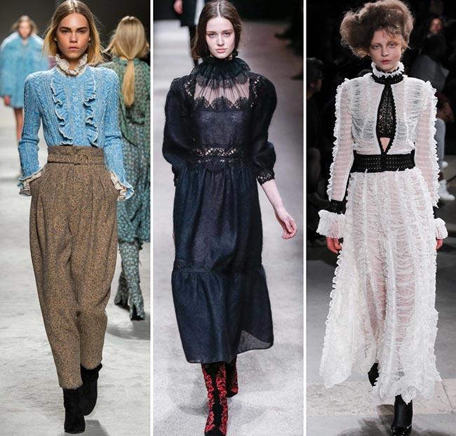 Мода осень-зима 2015-2016. Викторианский стиль