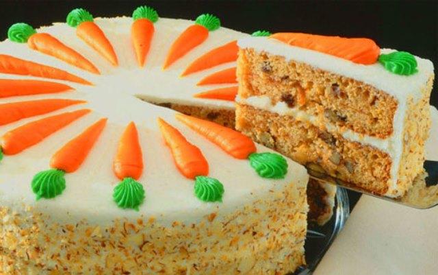 Торт. Морковный торт со сметанным кремом