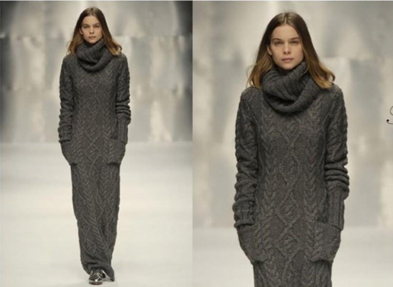 Платья-свитеры в пол — один из главных осенних трендов в стиле Medini