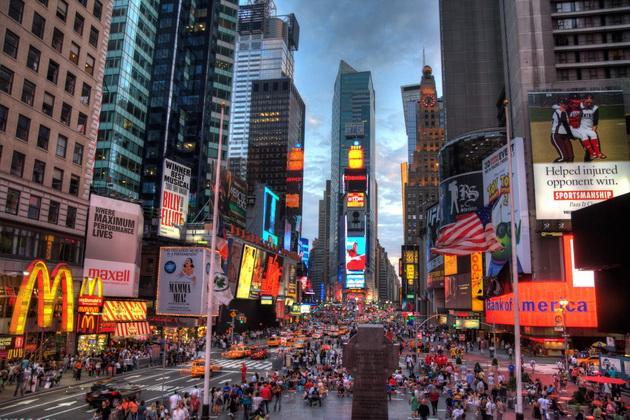 История создания площади Таймс-сквер