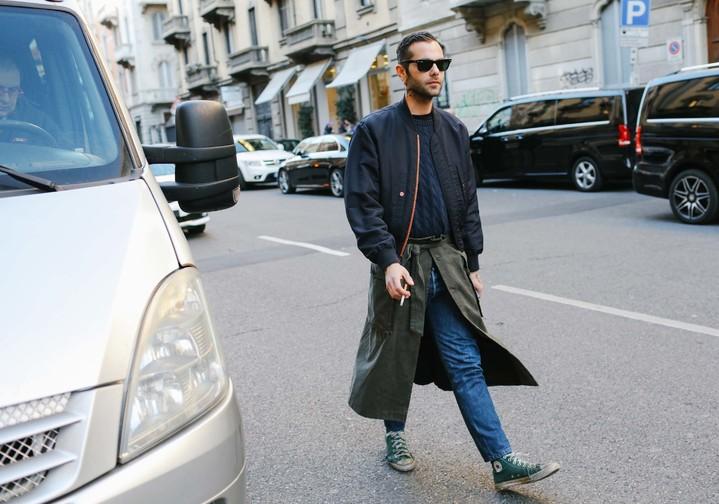 Неделя мужской моды в Милане: хроники street style