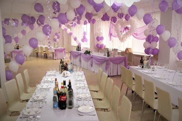 Украшение зала на свадьбу шарами: воздушная радость