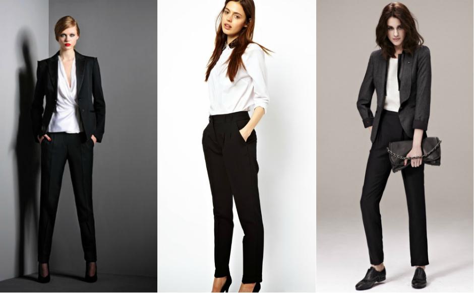 с какой обувью носить черные брюки женские