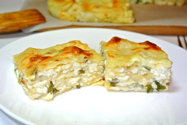 Рецепт пирога с лавашом и сыром