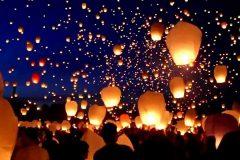 Свадьба: запускаем летающие небесные фонарики