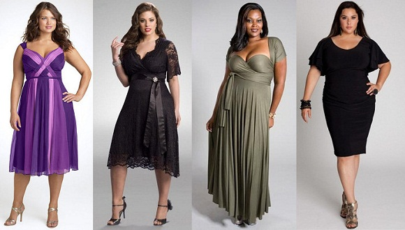 Как пышной даме выбрать платье?