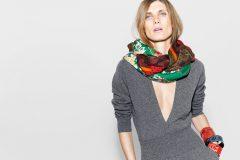Модные варианты ношения шёлковых платков