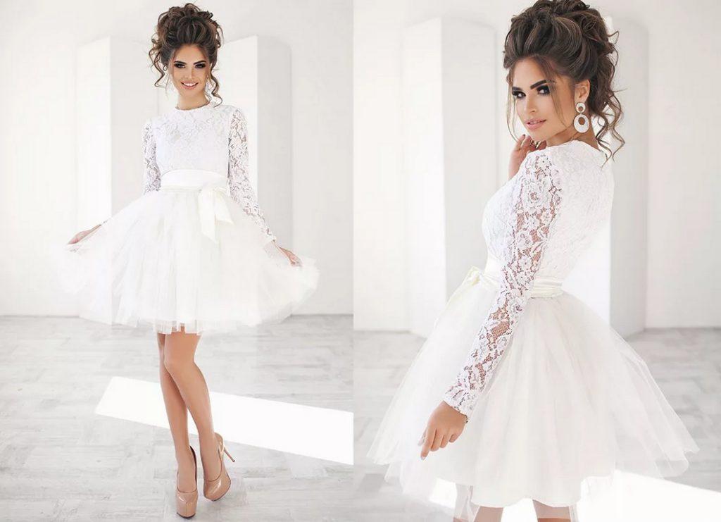 Мода на короткие свадебные платья — стильно и оригинально